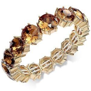 Charter Club Gold-Tone Stone Stretch Bracelet